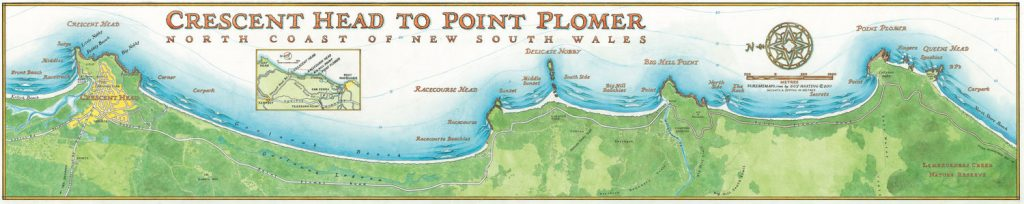 Cresecent Head to Point Plomer Surf Breaks