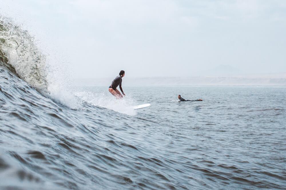 Surfing Huanchaco, Peru